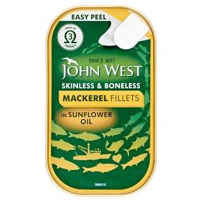 John West Mackerel Fillets in Sunflower Oil