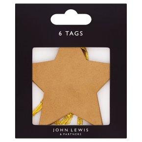 John Lewis Gold Star Gift Tags