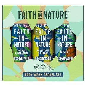 Faith In Nature Body Wash Travel Set