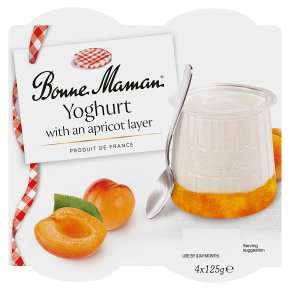 Bonne Maman Yoghurt with an Apricot Layer