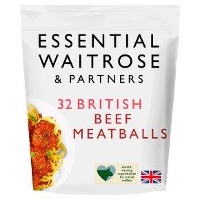 Essential 32 Meatballs 100% British Beef