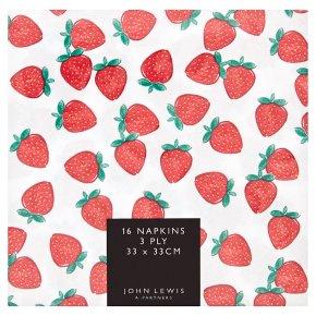 John Lewis Strawberry Napkins 33cm