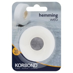 Korbond White Hemming Web 20m