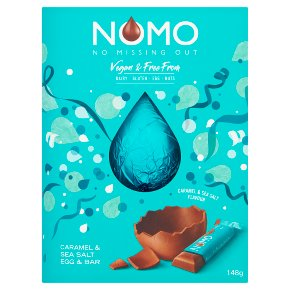 NOMO Vegan Caramel & Sea Salt Easter Egg & Bar