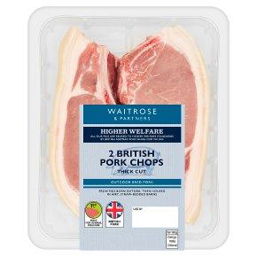 Waitrose British 2 Pork Chops Thick Cut