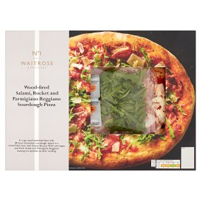No.1 Salami, Rocket & Parmigiano Pizza