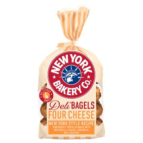 New York Bakery Co Deli Bagels Four Cheese