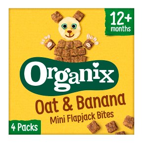 Organix Oat & Banana Mini Flapjack Bites