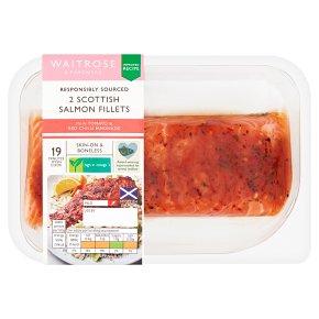 Waitrose 2 Scottish Salmon Fillets in Tomato & Red Chilli