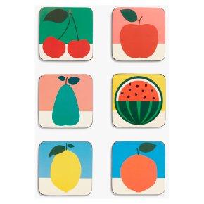 East End Prints Cork Backed Fruit Design Placemats