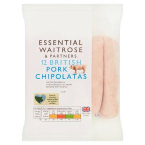Essential 12 British Pork Chipolatas