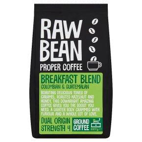 Raw Bean Breakfast Blend Ground Coffee
