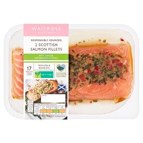 Waitrose 2 Salmon Fillets in Thai Marinade
