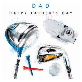 Golf Happy Fathers Day Card