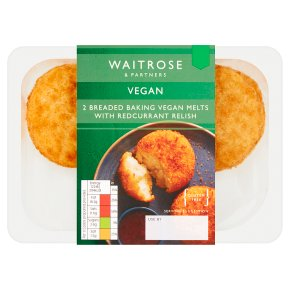 Waitrose Vegan 2 Breaded Baking Melts with Relish