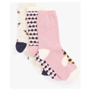 John Lewis Bee Mix Ankle Socks