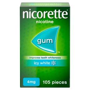 Nicorette Icy White 4mg Gum