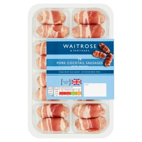 Waitrose 16 Cocktail Sausages Wrapped in Bacon