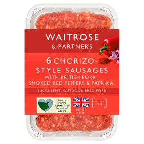 Waitrose 6 Chorizo Sausages