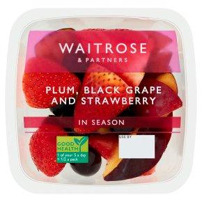 Waitrose Plum, Black Grape And Strawberry