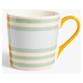 John Lewis Check Mug Mustard