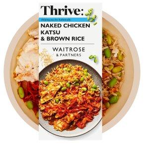 Waitrose Thrive Naked Chicken Katsu & Brown Rice