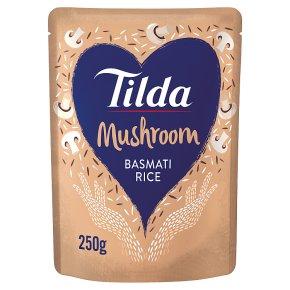 Tilda steamed basmati rice mushroom