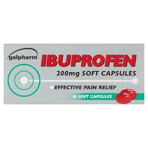 Galpharm Ibuprofen Sof Capsules 200mg
