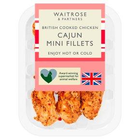 Waitrose British Cooked Cajun Mini Chicken Fillets