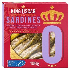 King Oscar MSC Sardines with Basil Oregano & Garlic