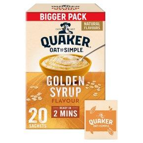 Quaker Oat So Simple Golden Syrup 20 Porridge Sachets