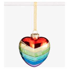 John Lewis Heart Rainbow Bauble