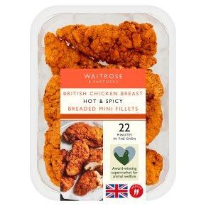 Waitrose Chicken Hot & Spicy Breaded Mini Fillets