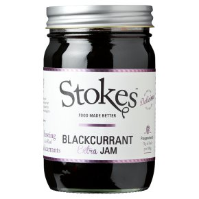 Stokes real preserves blackcurrant jam