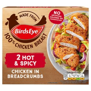 Birds Eye Hot & Spicy Chicken in Breadcrumbs