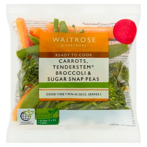 Waitrose Carrot, Tenderstem Broccoli & Sugar Snap Peas