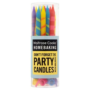 Cooks' Homebaking stripe party candles