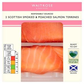 Waitrose Smoked & Poached Salmon Terrines