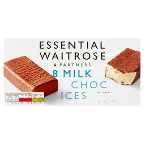 Essential Waitrose milk choc ices