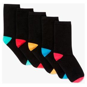 John Lewis Rainbow Heel & Toe Socks