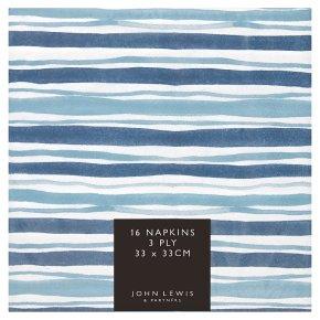 John Lewis Coastal Stripe Napkins 33cm