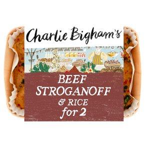 Charlie Bigham's beef stroganoff & rice