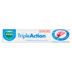 Vicks TripleAction Sugar Free Lozenge