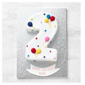 2nd Birthday Balloon & Stars Cake