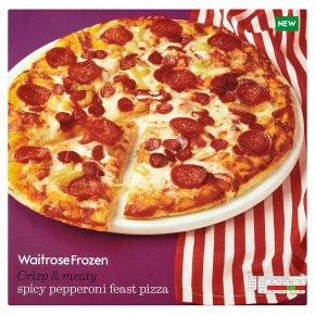 Waitrose Spicy Pepperoni Feast Pizza