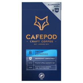 CafePod Decaf Espresso 10 Coffee Pods