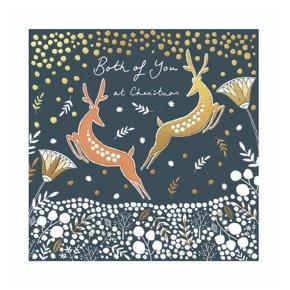 Two Prancing Reindeer Card