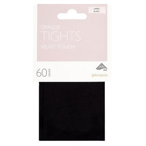John Lewis 60 denier black opaque tights (large)