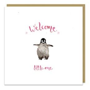 New Baby Girl Penguin Card