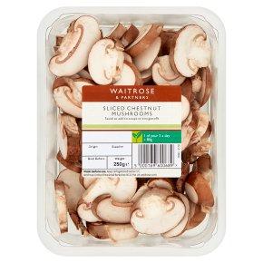 Waitrose Sliced Chestnut Mushrooms